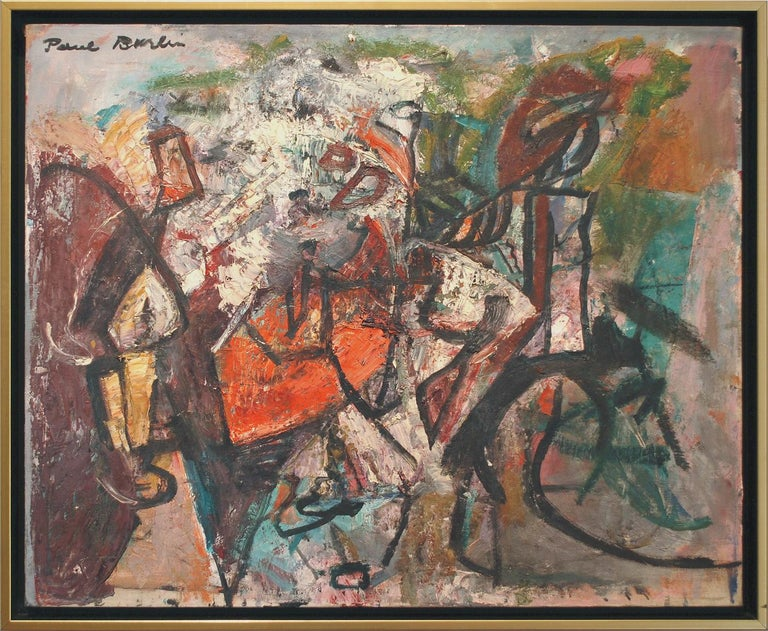 Paul Burlin Abstract Painting - Untitled