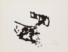 Abstract Expressionist Silkscreen by Paul Burlin 1968