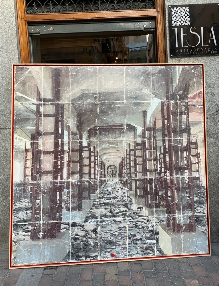 Mankind is busy destroying his planet, many species are simply disappearing, never to see again outside of a museum. Paul C. McKenna is gently asking us to have some perspective, through the device of creased photographs he shows apast, both fading