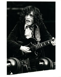 Angus Young Rocking Out Vintage Original Photograph