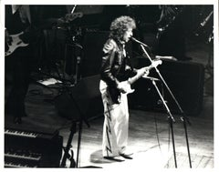 Bob Dylan Playing Guitar on Stage Vintage Original Photograph