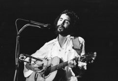 Cat Stevens Performing and Playing Guitar Vintage Original Photograph