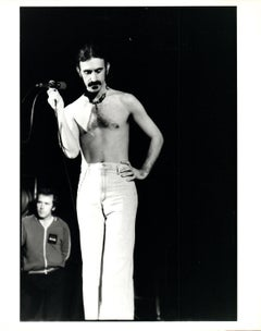 Frank Zappa Shirtless on Stage Vintage Original Photograph