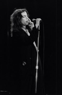 Patti Smith Performing at Microphone Vintage Original Photograph