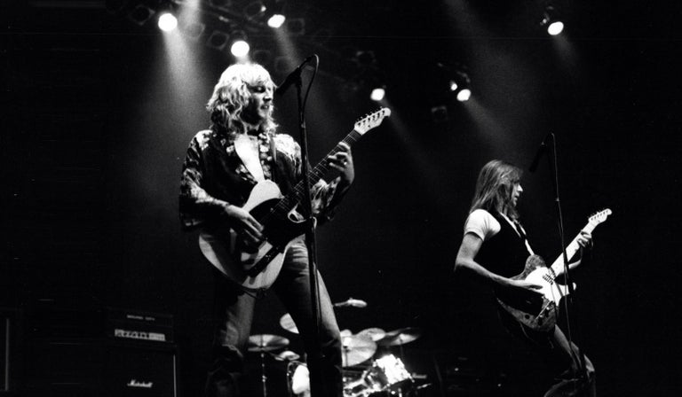 Paul Canty Portrait Photograph - Status Quo Performing on Stage Vintage Original Photograph
