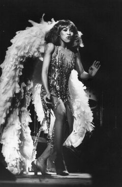 Tina Turner Performing in Showgirl Costume Vintage Original Photograph