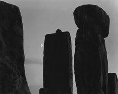 Paul Caponigro, Stonehenge with Moon, England, 1972
