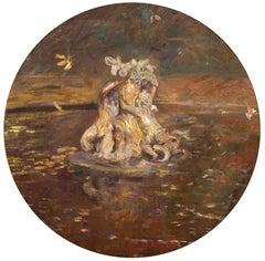 Autumn in Versailles - Oil Painting by Paul César Helleu, Impressionist Painter