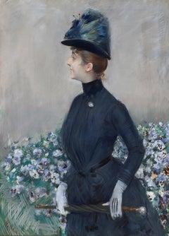 La femme aux fleurs (Portrait de Mathilde See)