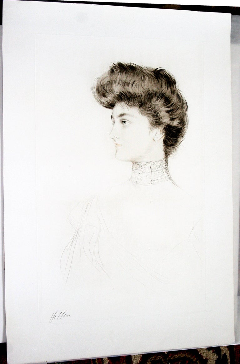 Alexandra of Denmark, Queen of England. - Art Nouveau Print by Paul César Helleu