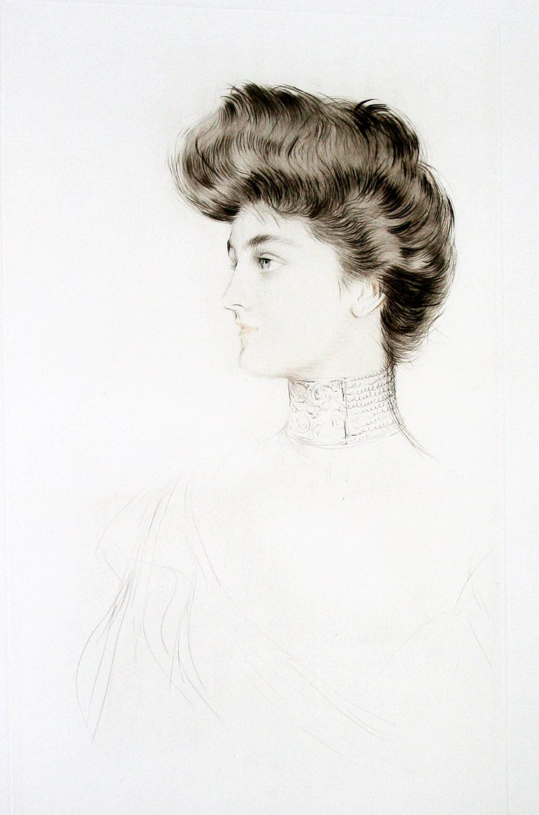 Alexandra of Denmark, Queen of England. - Print by Paul César Helleu