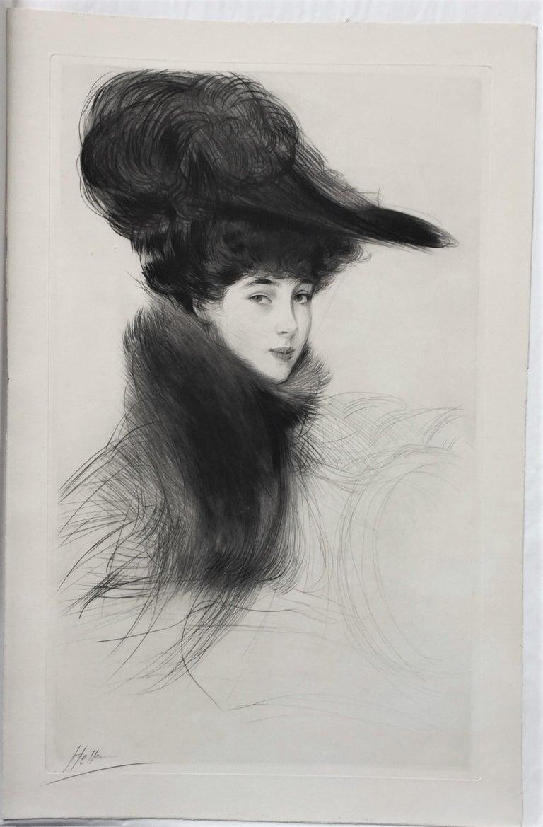 La Duchesse de Marlborough, Consuelo Vanderbilt - Print by Paul César Helleu