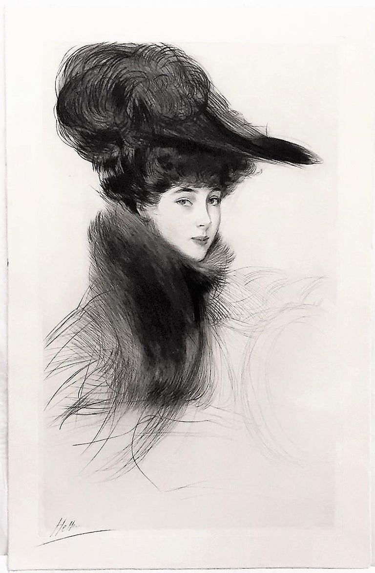 La Duchesse de Marlborough, Consuelo Vanderbilt - Modern Print by Paul César Helleu