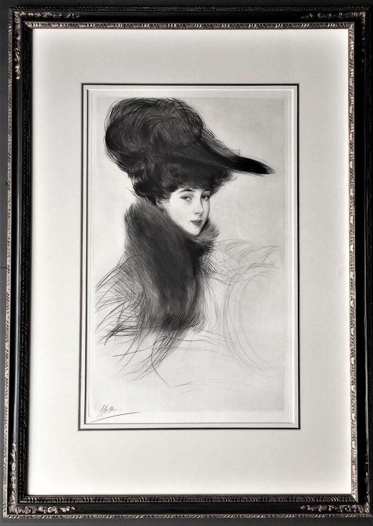 Paul César Helleu Portrait Print - La Duchesse de Marlborough, Consuelo Vanderbilt