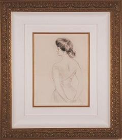 """La Femme du Dos"" (Woman from the Back) by Paul Cesar Helleu"