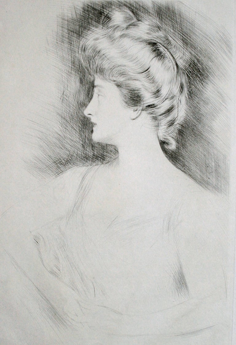 Lady Carnarvon. - Print by Paul César Helleu