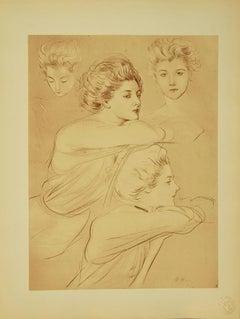 Parisian - Original Lithograph by Paul César Helleu - 1898