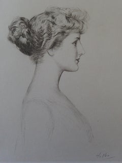 Profile of a Woman - Etching
