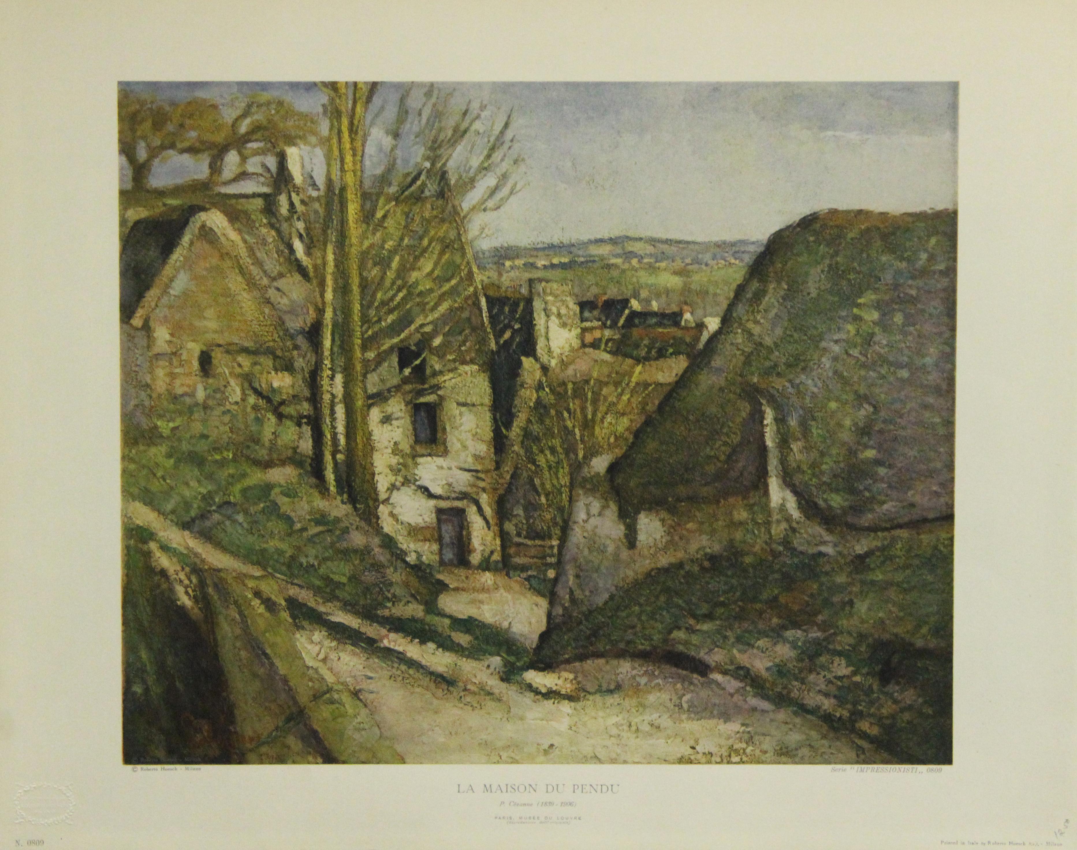 La Maison Du Pendu. Printed in Italy by Roberto Hoesch-Milano