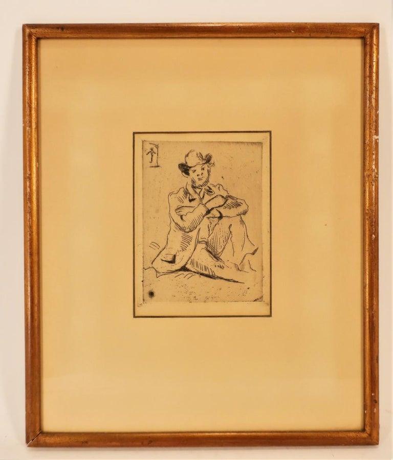 Paul Cezanne, Portrait Etching - Print by Paul Cézanne