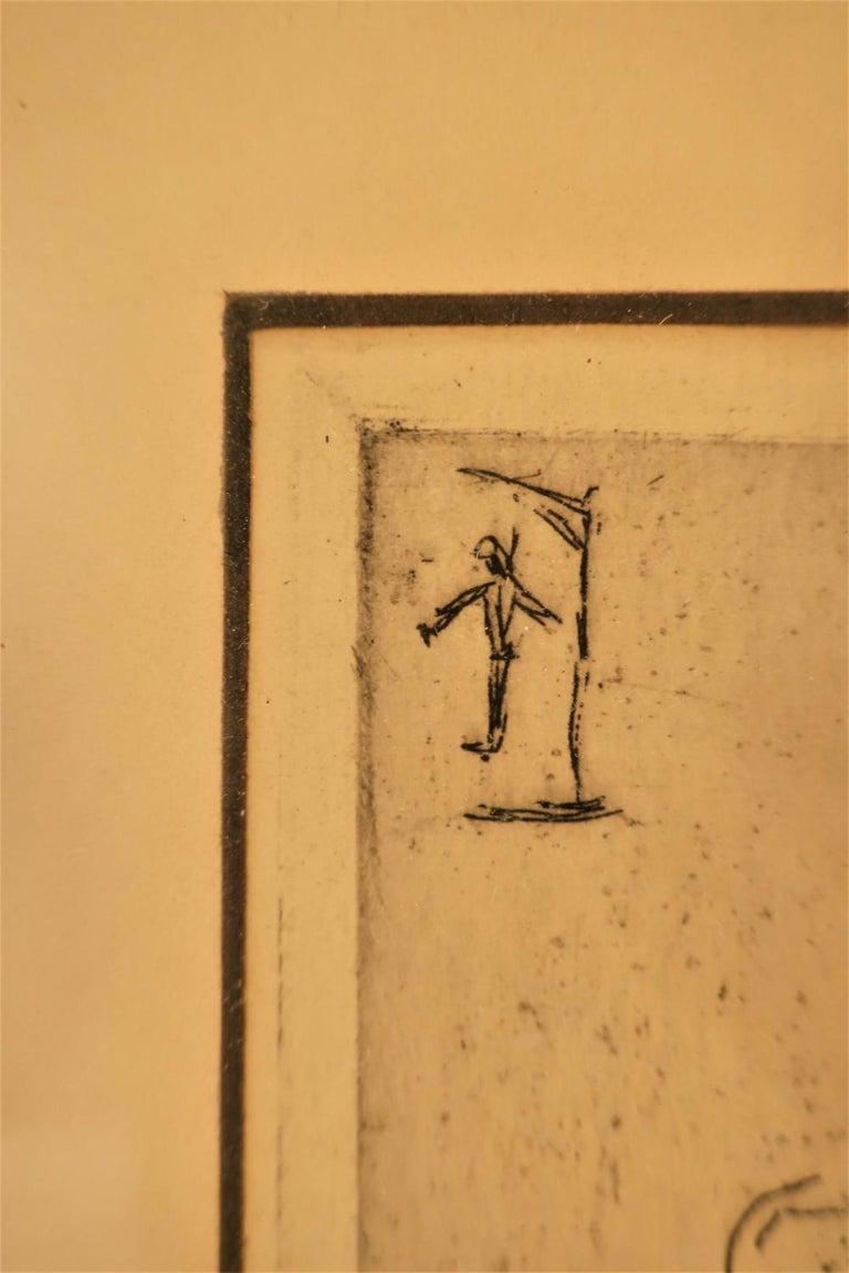 Paul Cezanne, Portrait Etching 1