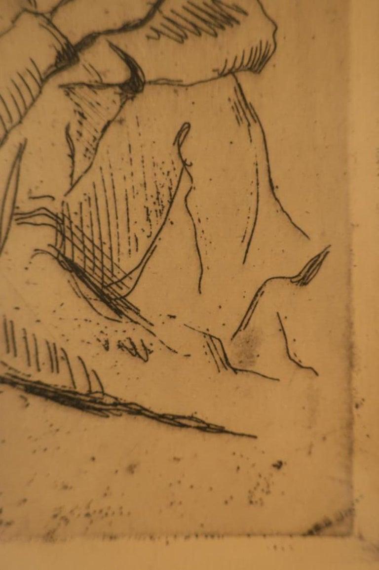 Paul Cezanne, Portrait Etching 2