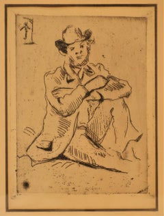 Paul Cezanne, Portrait Etching