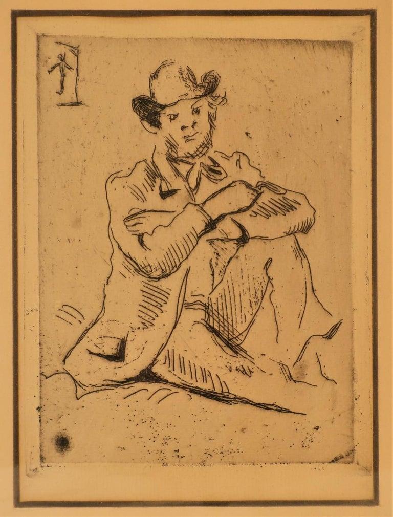 Paul Cézanne Portrait Print - Paul Cezanne, Portrait Etching