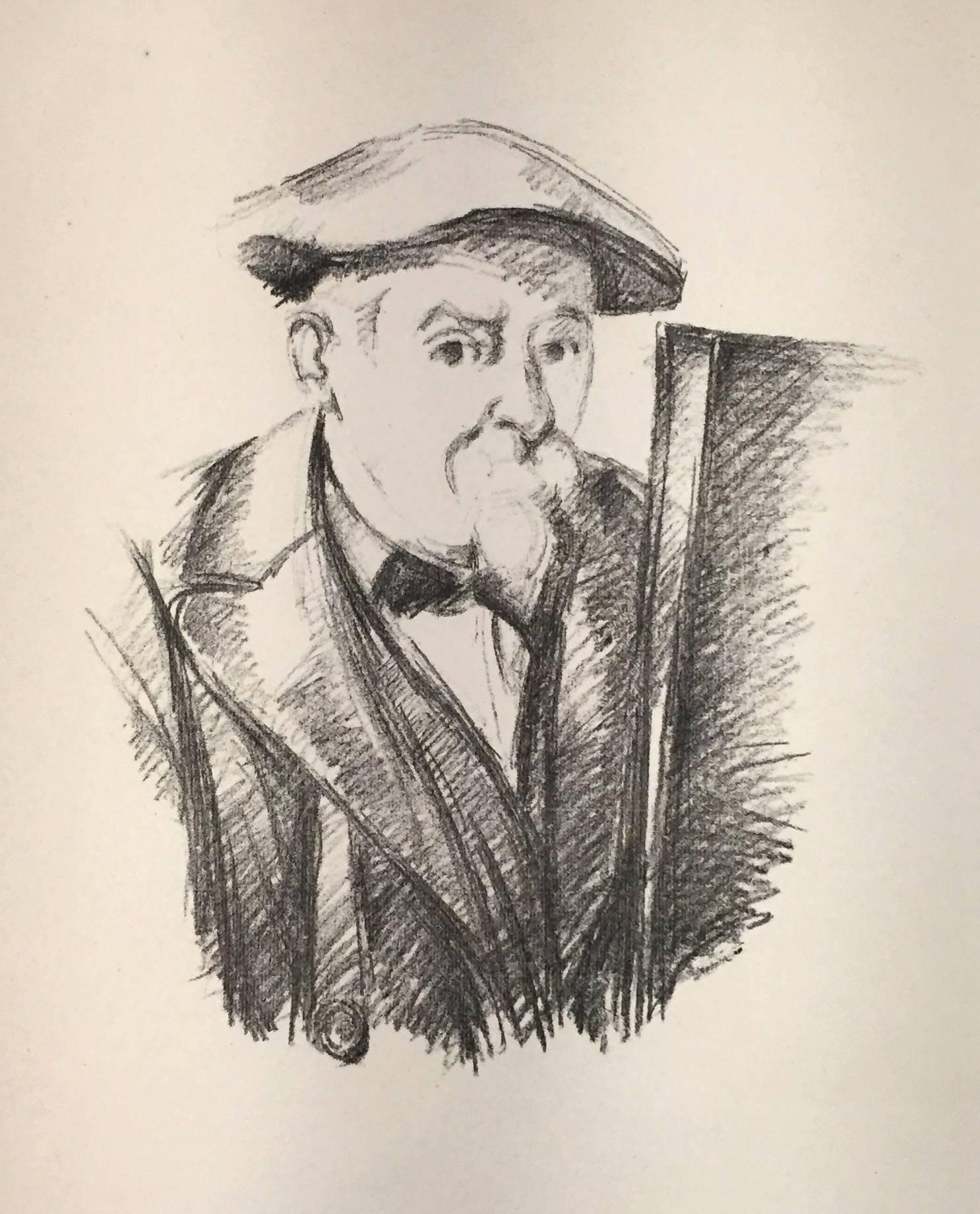 Portrait de Cézanne par lui-meme (Self-Portrait) - Original Lithograph - 1898