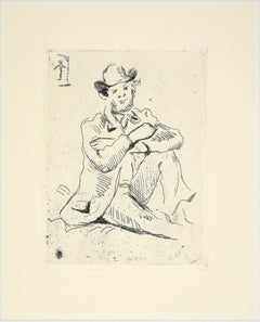 Portrait du Peintre Guillaumin - Original Etching Late 19th Century