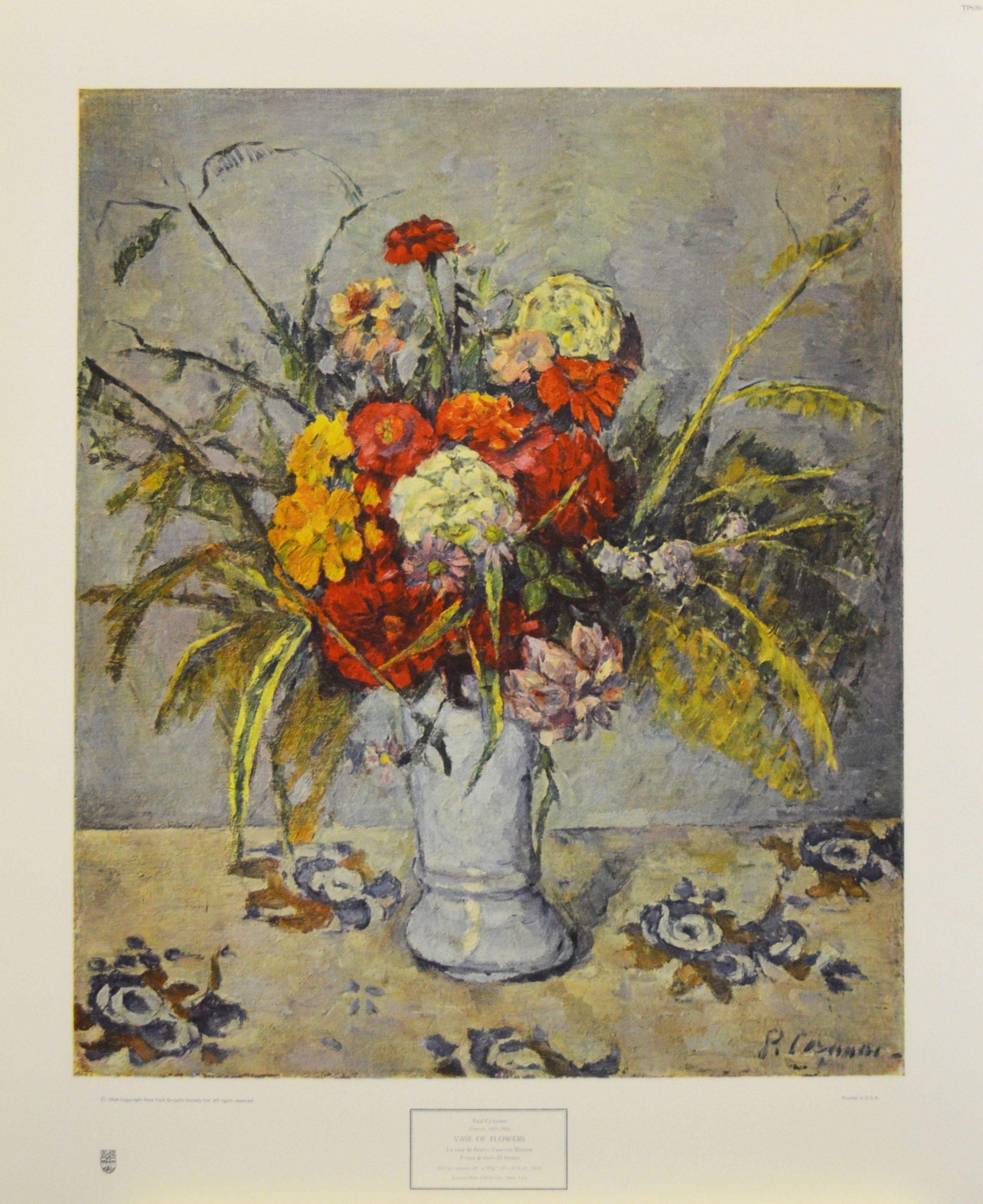 """Vase of Flowers"" Poster. Copyright 1944 New York Graphic Society, Ltd."