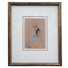 Paul Colin Art Deco Pastel Drawing