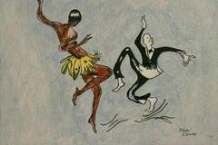 Josephine Baker Paris Dance  Painting