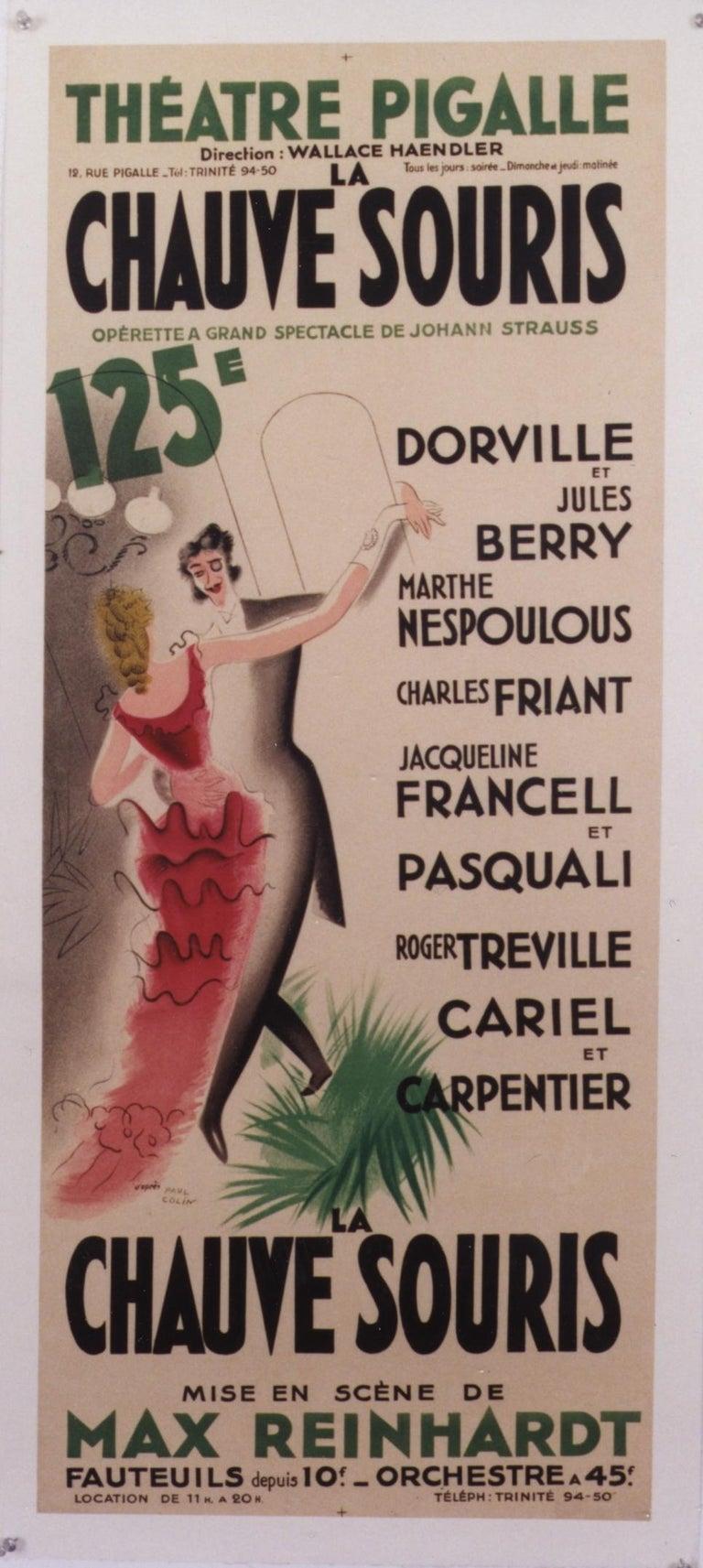 Paul Colin Figurative Print - La Chauve Souris /Theatre  Pigalle