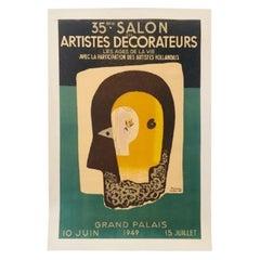 Paul Collin 'Artists Decorateurs' 1949 Original Vintage Poster