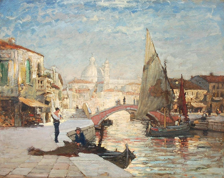 Paul Cornoyer Figurative Painting - Afternoon Light, Venice