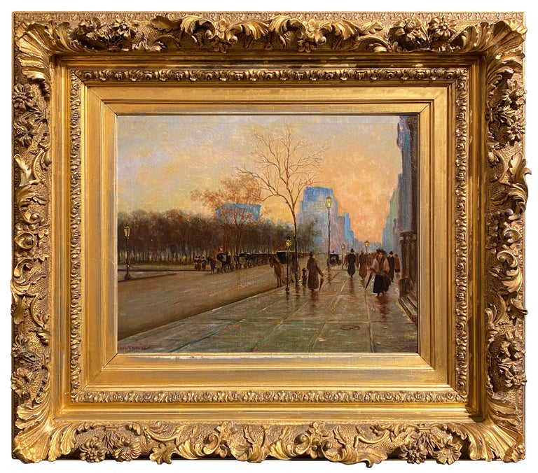 Madison Square (Fifth Ave and 27th Street, New York) - Painting by Paul Cornoyer