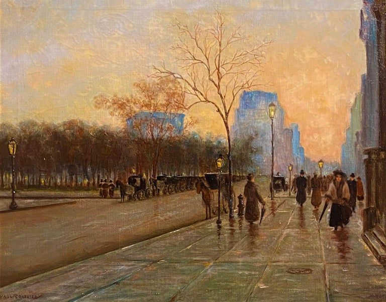 Paul Cornoyer Figurative Painting - Madison Square (Fifth Ave and 27th Street, New York)