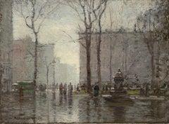 Rainy Day, New York City, Madison Square Park