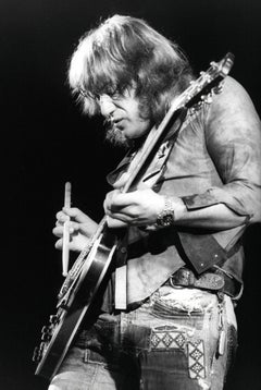 Alvin Lee Playing Guitar with Drum Stick Vintage Original Photograph