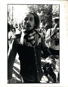 Bob Marley Walking Outdoors Vintage Original Photograph