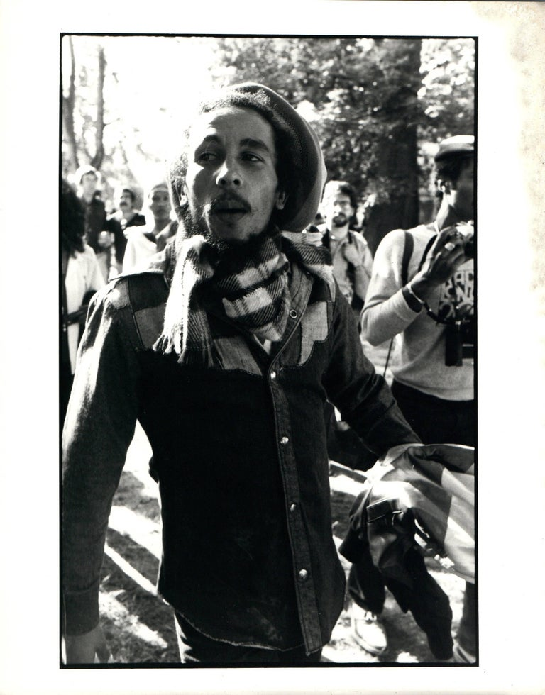 Paul cox black and white photograph bob marley walking outdoors vintage original photograph
