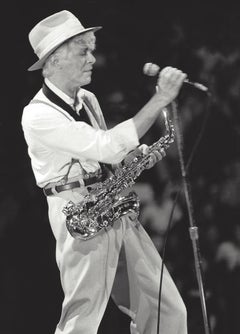 David Bowie Performing with Saxaphone Vintage Original Photograph
