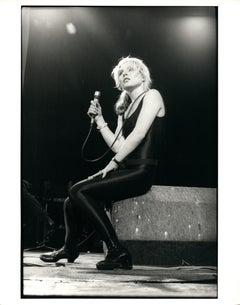 Debbie Harry (Blondie) Sitting on Stage Vintage Original Photograph