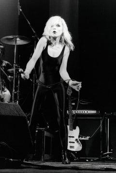 Debbie Harry of Blondie Performing in Black Leotard Vintage Original Photograph