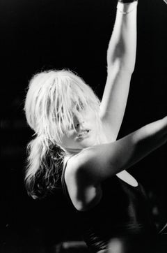 Debbie Harry of Blondie Rocking Out on Stage Vintage Original Photograph