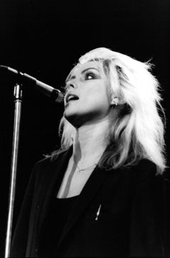 Debbie Harry of Blondie Singing to Audience Vintage Original Photograph