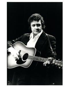 Johnny Cash Playing Guitar Vintage Original Photograph