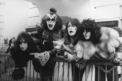 KISS Candid Group Portrait in Full Makeup Vintage Original Photograph