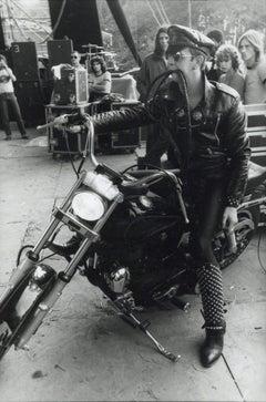 Rob Halford of Judas Priest on Motorcycle Vintage Original Photograph